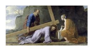 """Eustache Le Sueur Fine Art Open Edition Giclée:""""Jesus Carrying His Cross"""""""