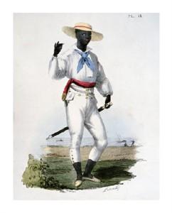 "C. Linati Fine Art Open Edition Giclée:""Black Man of the Vera Cruz Region"""