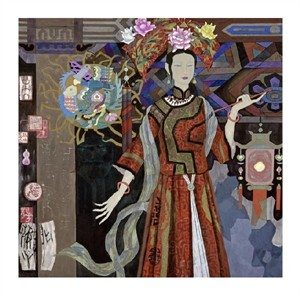 "Hua Long Fine Art Open Edition Giclée:""Goddess of Flowers Series: No. 6"""