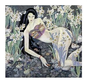 """Hua Long Fine Art Open Edition Giclée:""""Goddess of Flowers Series: No. 8"""""""