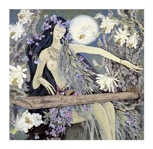 """Hua Long Fine Art Open Edition Giclée:""""Goddess of Flowers Series: No. 1"""""""