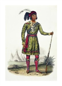 "Thomas Lorraine McKenney Fine Art Open Edition Giclée:""Osceola, a Seminole Leader"""