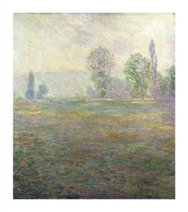 "Claude Monet Fine Art Open Edition Giclée:""A Meadow in Giverny"""
