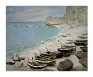 """Claude Monet Fine Art Open Edition Giclée:""""Boats on the Beach of Etretat, 1883"""""""