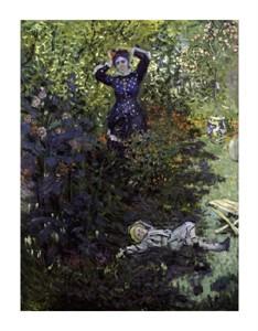 """Claude Monet Fine Art Open Edition Giclée:""""Camille Et Jean Monet Au Jardin"""""""