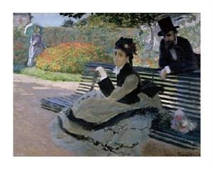 "Claude Monet Fine Art Open Edition Giclée:""Camille Monet on a Garden Bench"""