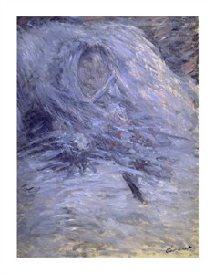 "Claude Monet Fine Art Open Edition Giclée:""Camille Monet on Her Deathbed"""