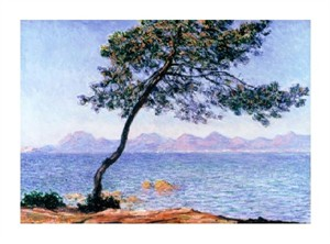 "Claude Monet Fine Art Open Edition Giclée:""Cap d'Antibes"""