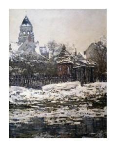 """Claude Monet Fine Art Open Edition Giclée:""""Churchat Vetheuil, Winter"""""""