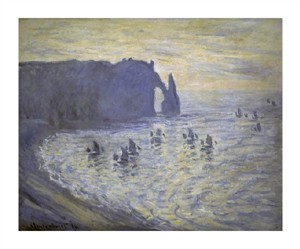 "Claude Monet Fine Art Open Edition Giclée:""Cliffs at Etretat"""