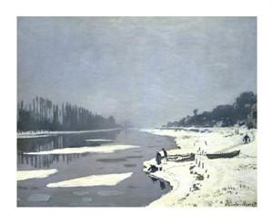 """Claude Monet Fine Art Open Edition Giclée:""""Glacons Sur La Seine a Bougival"""""""