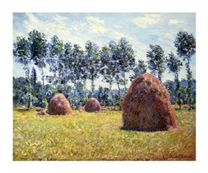 """Claude Monet Fine Art Open Edition Giclée:""""Haystacks at Giverny"""""""