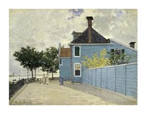 "Claude Monet Fine Art Open Edition Giclée:""La Maison Weue, Zaandau"""