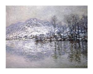 """Claude Monet Fine Art Open Edition Giclée:""""La Seine a Port Villez, Effet de Neige"""""""