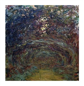 """Claude Monet Fine Art Open Edition Giclée:""""L'Allee de Rosiers a Giverny"""""""