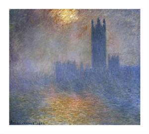 "Claude Monet Fine Art Open Edition Giclée:""London Parliament (Patch of Sun in the Fog)"""