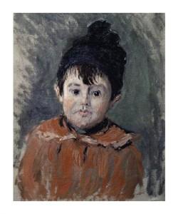 """Claude Monet Fine Art Open Edition Giclée:""""Michel Monet Au Bonnet a Pompon"""""""