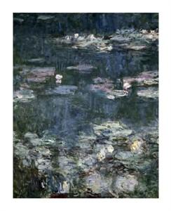 """Claude Monet Fine Art Open Edition Giclée:""""Nympheas-Water Lilies-Detail"""""""
