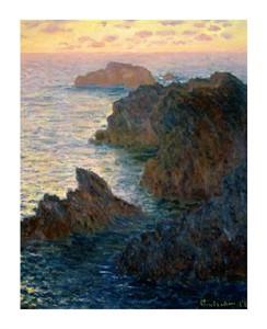 """Claude Monet Fine Art Open Edition Giclée:""""Point of Rocks at Port-Goulphar"""""""