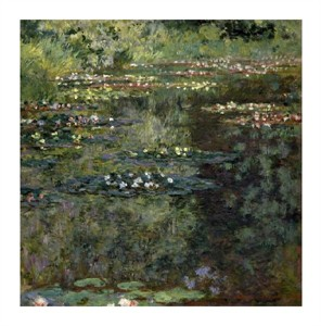 "Claude Monet Fine Art Open Edition Giclée:""Pool with Waterlilies, 1904"""
