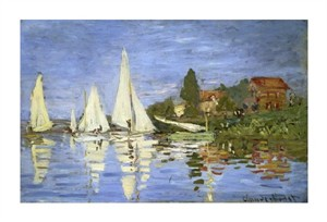 "Claude Monet Fine Art Open Edition Gicl�e:""Regatta at Argenteuil"""