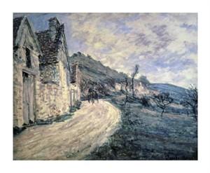 "Claude Monet Fine Art Open Edition Giclée:""Rocks in la Falaise Near Giverny"""