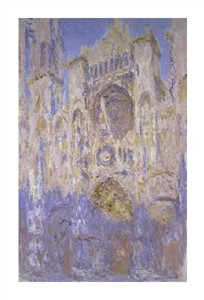 "Claude Monet Fine Art Open Edition Giclée:""Rouen Cathedral, Effects of Sunlight, Sunset"""
