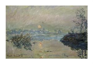 """Claude Monet Fine Art Open Edition Giclée:""""Setting Sun (Soleil Couchant)"""""""