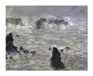"Claude Monet Fine Art Open Edition Giclée:""Storm off the Coast of Belle Isle"""