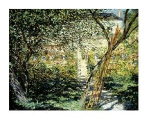 "Claude Monet Fine Art Open Edition Giclée:""The Garden of Vetheuil (Le Jardin de Vetheuil)"""