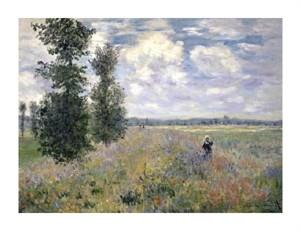 """Claude Monet Fine Art Open Edition Giclée:""""The Poppy Field, Argenteuil"""""""