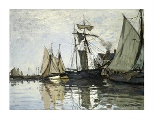 "Claude Monet Fine Art Open Edition Giclée:""The Port of Honfleur"""