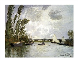 "Claude Monet Fine Art Open Edition Giclée:""The Small Branch of the Seine at Argenteuil"""