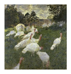 "Claude Monet Fine Art Open Edition Giclée:""The Turkeys; Chateau of Rottembourg, at Montgeron"""