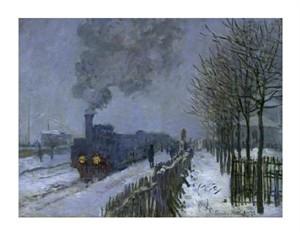 "Claude Monet Fine Art Open Edition Giclée:""Train in the Snow"""
