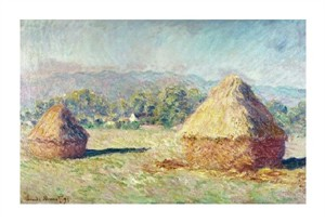 "Claude Monet Fine Art Open Edition Giclée:""Two Haystacks"""