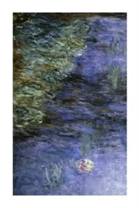 """Claude Monet Fine Art Open Edition Giclée:""""Water Lilies (Detail)"""""""