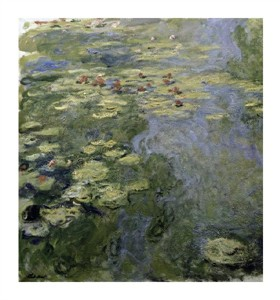 """Claude Monet Fine Art Open Edition Giclée:""""Water Lilies (Nymphaeas) II"""""""