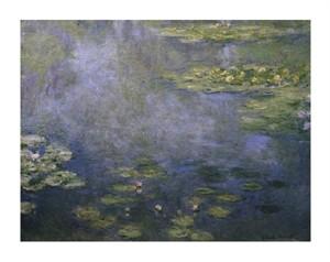"""Claude Monet Fine Art Open Edition Giclée:""""Water Lilies (Nymphaeas) IV"""""""