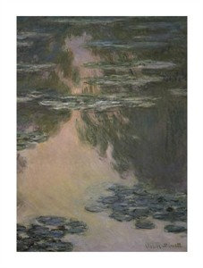 "Claude Monet Fine Art Open Edition Giclée:""Water Lilies (with Willows)"""