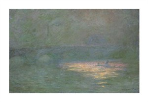 "Claude Monet Fine Art Open Edition Giclée:""Waterloo Bridge"""