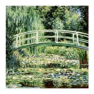 "Claude Monet Fine Art Open Edition Giclée:""White Water Lilies & Bridge"""
