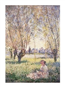 "Claude Monet Fine Art Open Edition Giclée:""Woman Seated Under the Willows"""