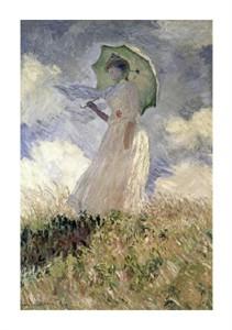 "Claude Monet Fine Art Open Edition Giclée:""Woman with a Parasol Turned Toward the Left"""