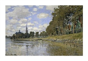 "Claude Monet Fine Art Open Edition Giclée:""Zaandam (Holland)"""