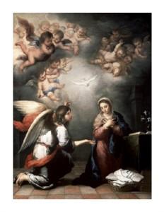 """Bartolome Esteban Murillo Fine Art Open Edition Giclée:""""Annunciation"""""""