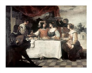 "Bartolome Esteban Murillo Fine Art Open Edition Giclée:""Banquet of the Prodigal Son"""