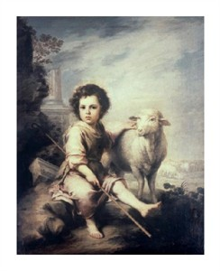 "Bartolome Esteban Murillo Fine Art Open Edition Giclée:""Christ Child as Shepherd"""