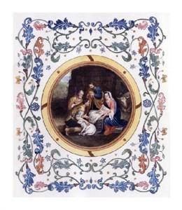"Bartolome Esteban Murillo Fine Art Open Edition Giclée:""Nativity with Illuminated Border"""