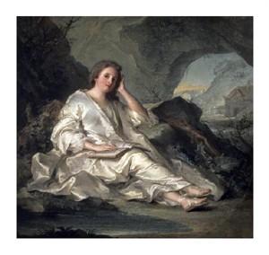 """Jean-Marc Nattier Fine Art Open Edition Giclée:""""La Madeleine ou Une Penitente Dans le Desert"""""""